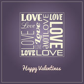 Valentines Card-Typography — Stock Vector