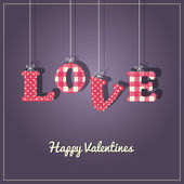 Valentines Card-Love is in the air — Stockvector