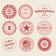 Independence Day Stamps and Badges — Stock Vector