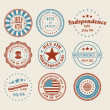 Independence Day Stamps and Badges — Stock Vector #25938489