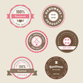 Badges for Handmade Products — Stock Vector