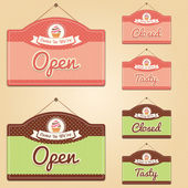 Cake Shop Signs — Stock Vector