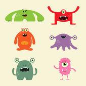 Cute Monster Set — Stock Vector