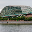 the esplanade theaters on the marina bay in singapore — Stock Photo