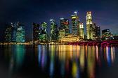 Night Panorama of Marina Bay Singapore — Stock Photo