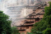 Maiji Caves in Gansu. — Stock Photo
