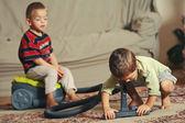 Children tidy up — Stock Photo