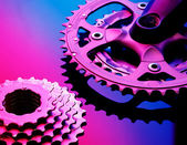 Bicicle шестерни и цепи — Стоковое фото