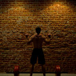 Weightlifting in the Gym - Foto de Stock  