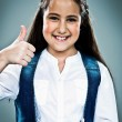 Cute Little Girl Woman Doing an OK Sign — Stock Photo