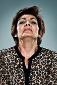 Mature Woman with Serious Expression — Stock Photo
