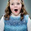 Little Girl with Surprise Expression — Stock Photo