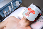 Man in a beauty clinic — Stock Photo