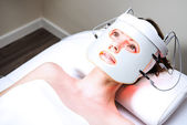 Woman in a beaty clinic — Stock Photo