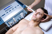 Men in a beauty clinic — Stock Photo