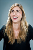 Young Happy Woman Laughing — Stock Photo