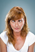 Young Woman with Funny Expression — Stock Photo
