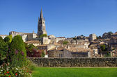 Grande vue sur le village de saint emilion — Photo