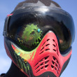 Paintball – Head shot — Stock Photo