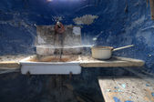 Old and dirty sink — Stock Photo