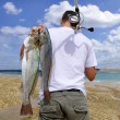 Adventure fishing - Stock Photo