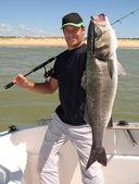 Rybářská scéna. mořský okoun — Stock fotografie