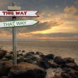 This way / that way — Stock Photo