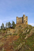 Old ruin of Alleuze castle in france — Stock Photo