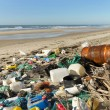 Beach pollution — Stockfoto