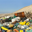 Beach pollution - Stockfoto