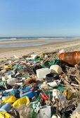 Beach pollution — Foto Stock