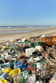 Beach pollution — Stock Photo