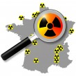 French nuclear energy, map — Stock Photo