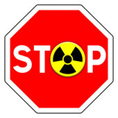 Stop nuclear — Stock Photo