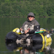 Fishing with a float tube — Stock Photo #31876761