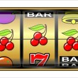 Gambling illustration, triple cherry — Stock Photo #38720963