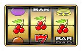 Gambling illustration, triple cherry — Stock Photo