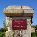 Wine theme. Grands vins de Bordeaux — Stock Photo #39548377