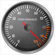 Stock Photo: Performance meter