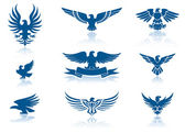 Retro Eagles insignias Set — Stock Vector