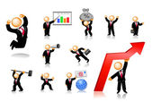 Businessmen Icon Set 2 — Stock Vector