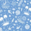 Seamless Beach Vector Pattern - Stock Vector