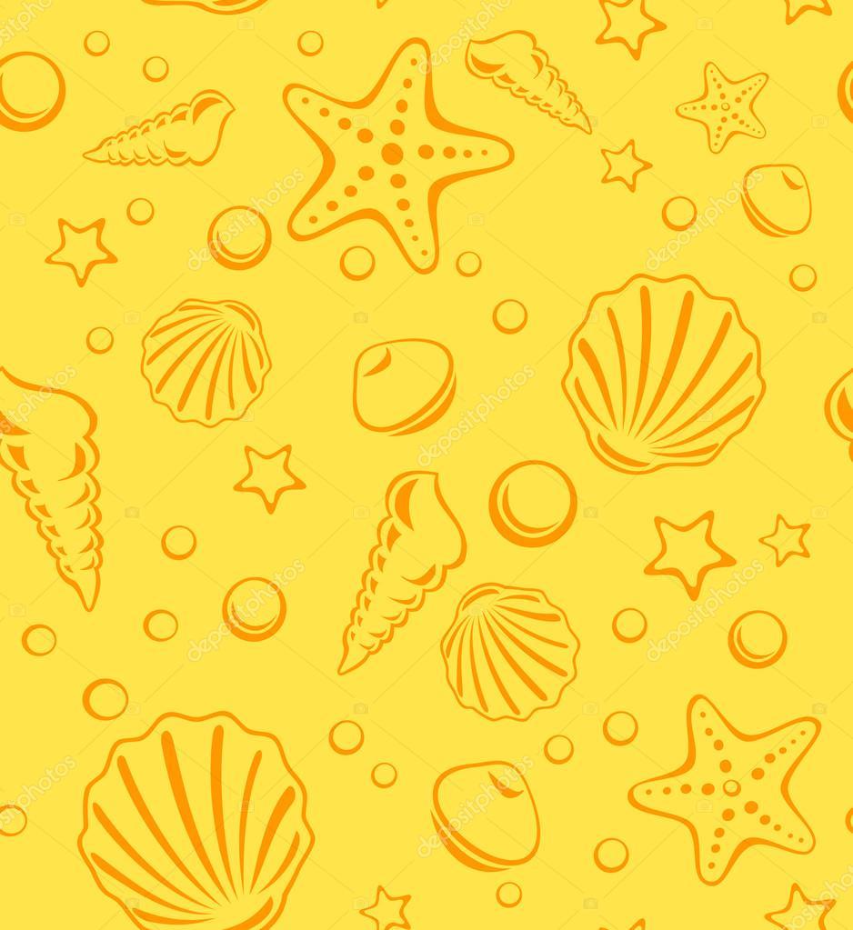 无缝海生活矢量花纹