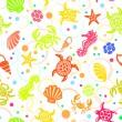 Seamless SeaLife Pattern — Stock Vector #14193710