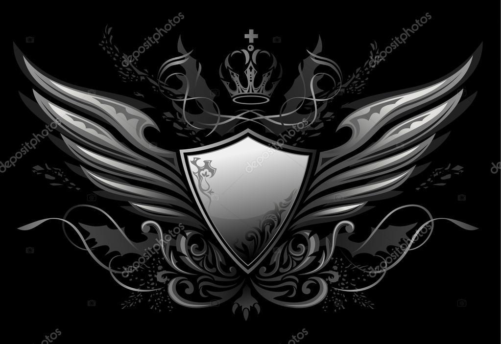 哥德盾牌徽章 2 — 图库矢量图片