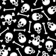 Skull and cross bonesseamless  pattern - Stock Vector
