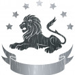 Lion Insignia — Stock Vector
