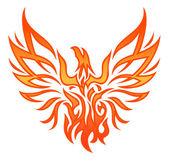 Fire Eagle Tattoo — Stock Vector