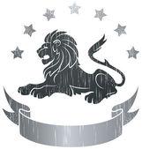 Lion Insignia — Stock Vector