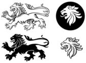 Heraldic Lion Silhuoette — Stock Vector